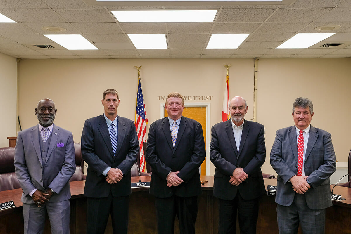 Image of the current County Commissioners as of June 2020.
